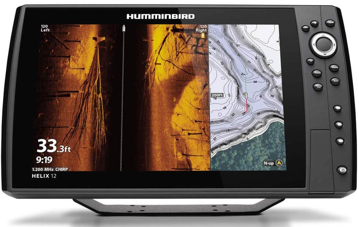 Humminbird Helix SI 7 Eco / GPS Down-Side