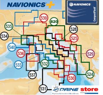Carte Nautique Navionics Plus Small 5G536S2 Corse N.Sardegna microSD